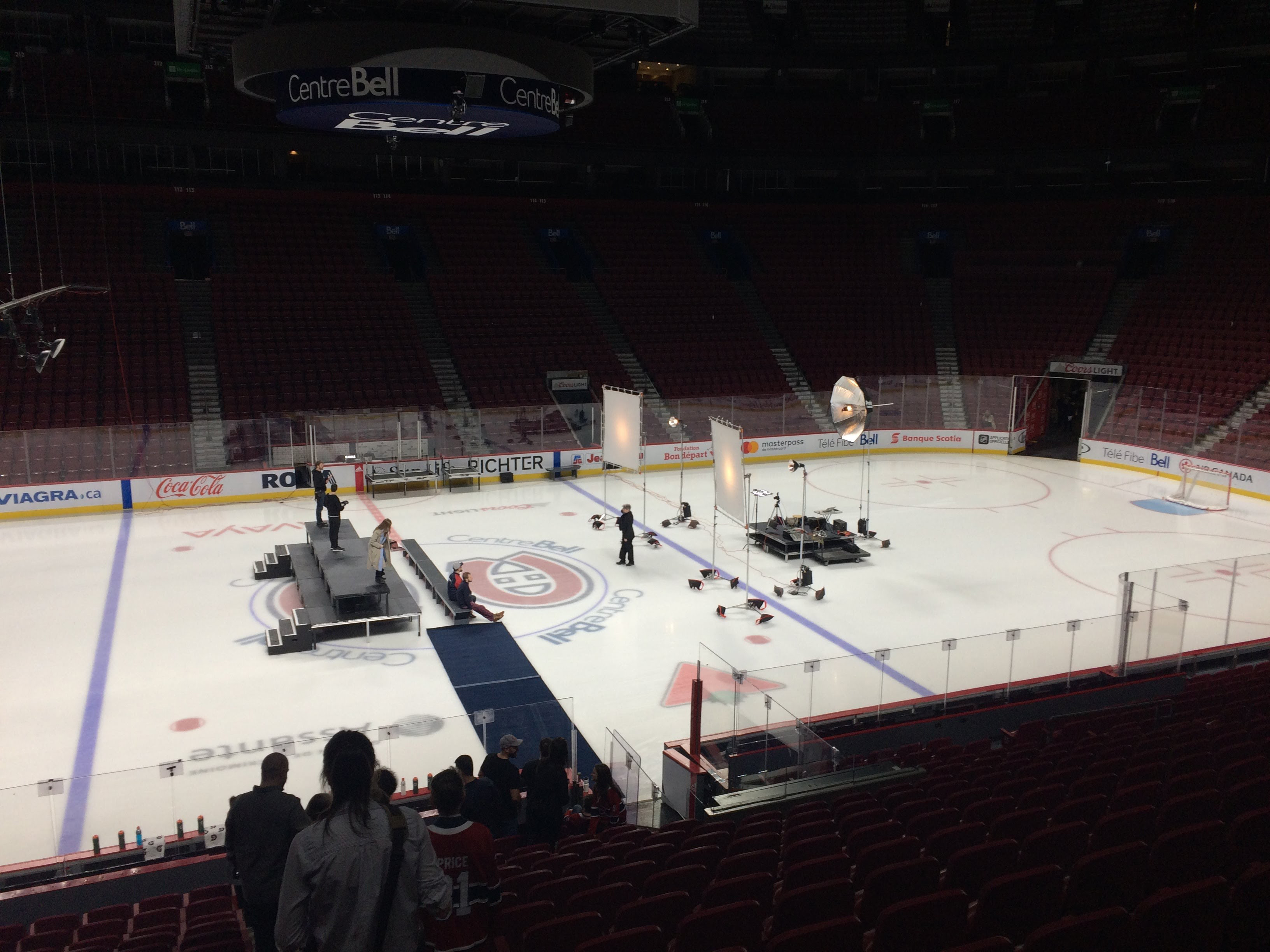 Montreal Bell Center, Montreal Canadiens official photo session